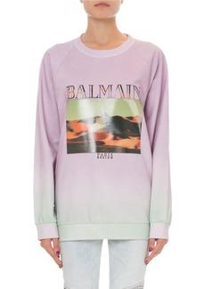 Balmain Pyramid Logo Graphic Sweatshirt
