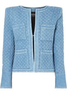 Balmain Quilted Denim Jacket