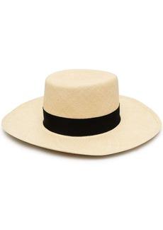 Balmain raffia boater hat