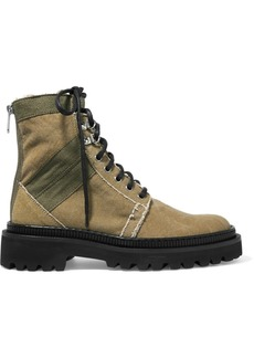 Balmain Ranger Canvas Ankle Boots