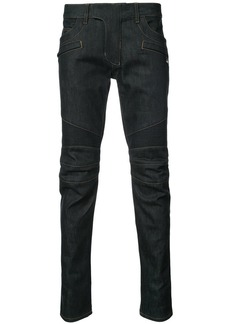 Balmain raw denim Biker jeans