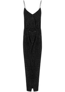 Balmain rhinestone-embellished draped dress