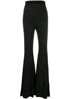Balmain rhinestone embellished flared trousers