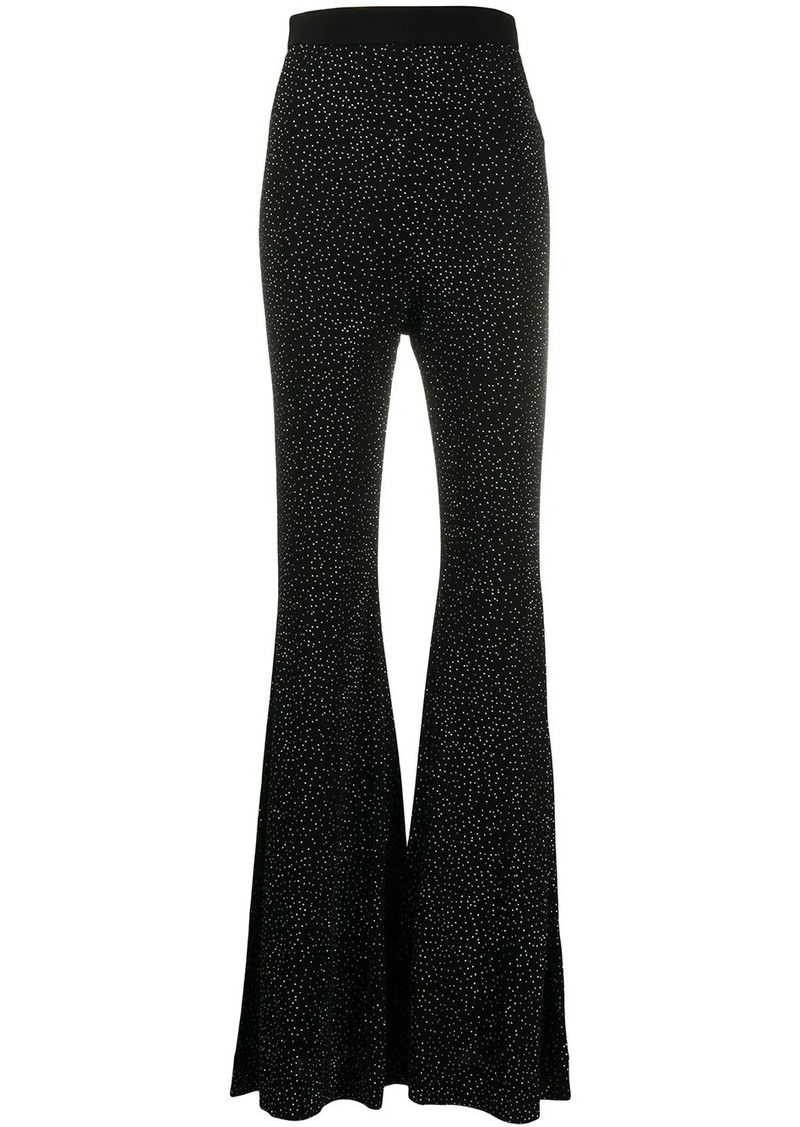 Balmain rhinestone embellished flared trousers