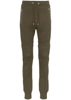 Balmain ribbed cotton sweat pants