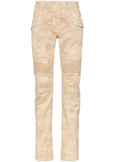 Balmain ribbed detail biker jeans