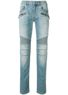 Balmain ribbed knees jeans