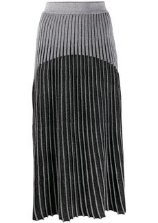 Balmain ribbed knit skirt
