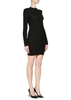 Balmain Ribbed Sweater Dress
