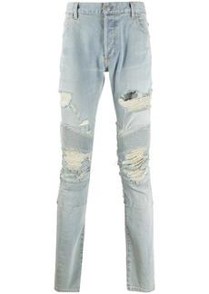 Balmain ripped skinny-fit biker jeans