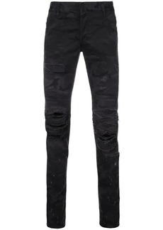 Balmain ripped slim fit jeans