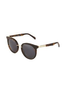 Balmain Round Acetate Tortoiseshell Sunglasses