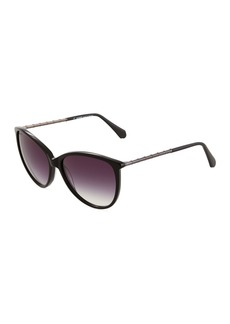 Balmain Round Acetate/Metal Sunglasses