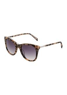 Balmain Round Havana Acetate/Metal Sunglasses