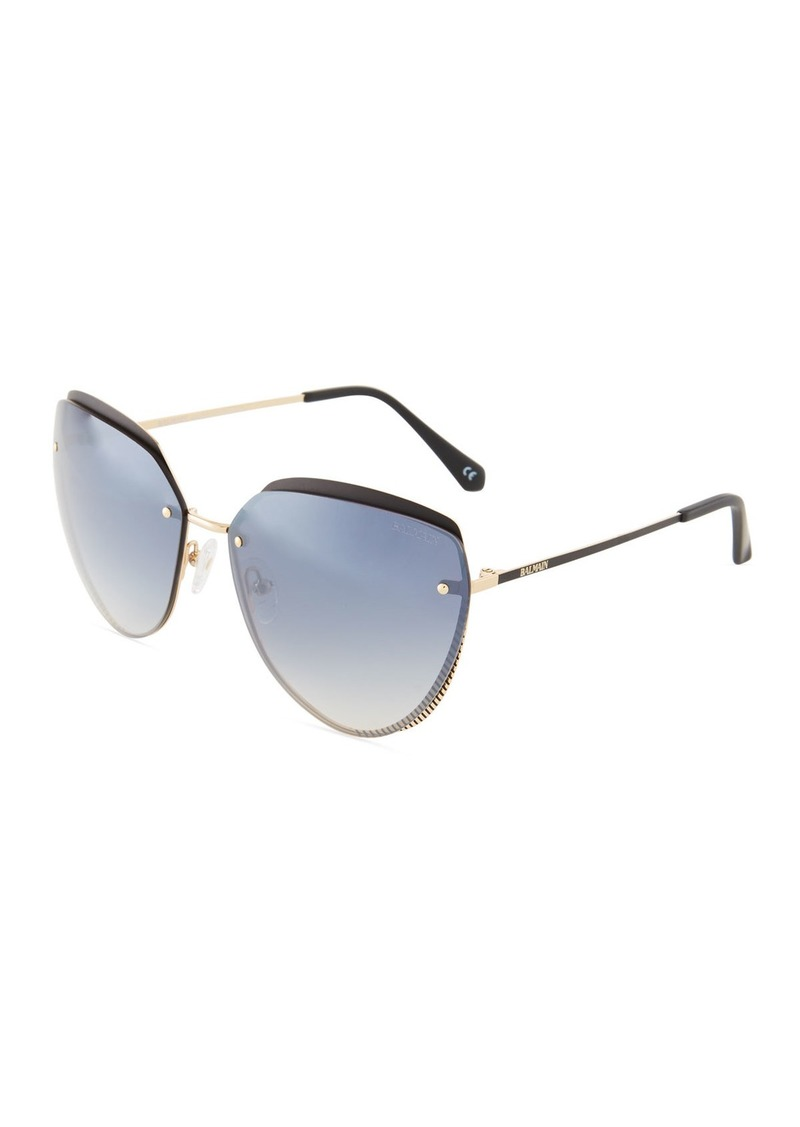 88617addf5f5 Balmain Round Metal Sunglasses