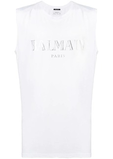 Balmain round neck tank top