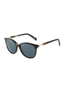 Balmain Round Tortoiseshell Acetate Sunglasses