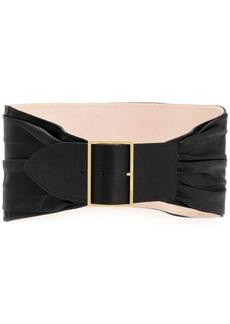 Balmain ruched oversized waist belt
