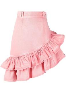 Balmain ruffle asymmetric skirt