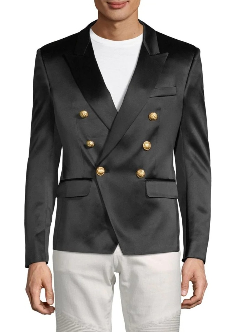 Balmain Satin Double Breasted Sport Jacket
