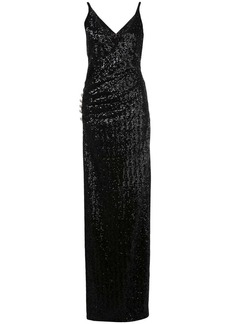 Balmain sequinned long dress