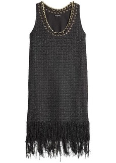 Balmain Shift Dress with Chain Trim