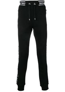 Balmain side logo stripe track pants