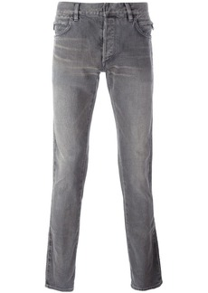 Balmain side ribbed detail jeans