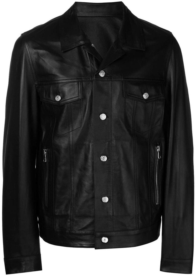 Balmain signature logo biker jacket