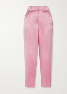 Balmain Silk-satin Straight-leg Pants