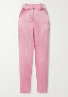 Balmain Silk-satin Straight-leg Pants
