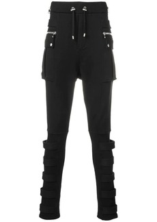 Balmain skinny cargo-style track trousers