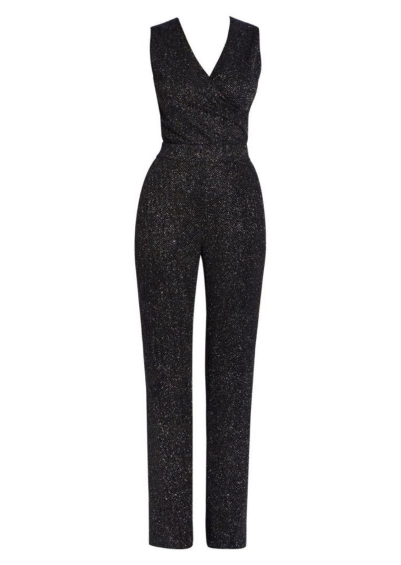 Balmain Sleeveless Glitter Jersey Jumpsuit