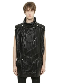Balmain Sleeveless Leather Poncho