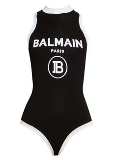 Balmain Sleeveless Logo Bodysuit