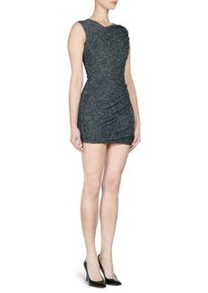 Balmain Sleeveless Metallic Bodycon Dress