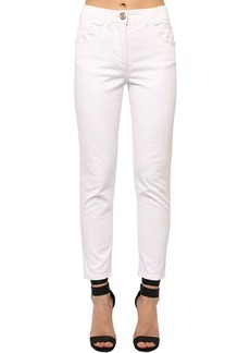 Balmain Slim Cotton Blend Denim Jeans