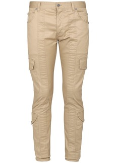 Balmain Slim Cotton Gabardine Cargo Pants