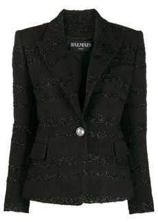 Balmain slim-fit bouclé tweed jacket