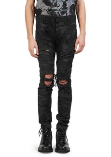 Balmain Slim-Fit Camo Pants