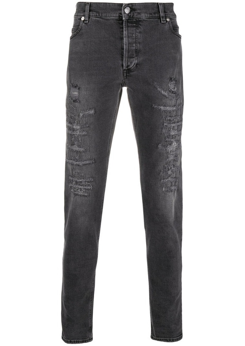 Balmain slim-fit distressed jeans