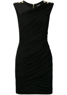 Balmain slim-fit draped mini dress