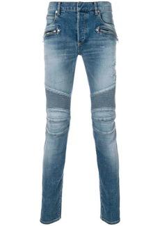 Balmain stonewashed skinny biker jeans