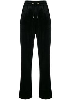 Balmain straight-leg velour track pants