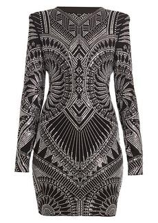 Balmain Strass Jersey Mini Dress