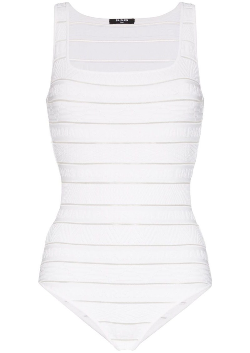 Balmain stripe knit bodysuit