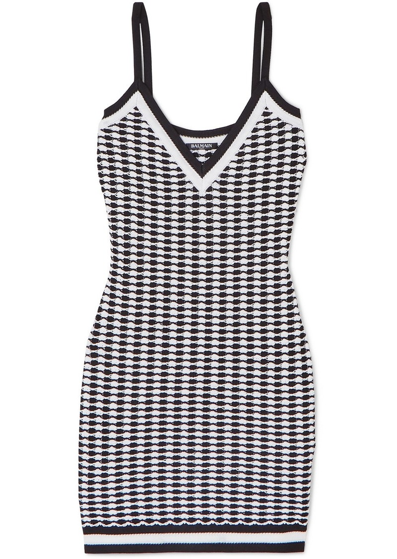 Balmain Stretch-knit Mini Dress
