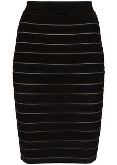 Balmain stretch-knit skirt