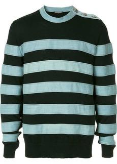 Balmain striped appliqués jumper