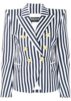 Balmain striped double breasted blazer